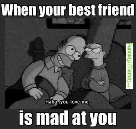 When your friend is mad at you meme